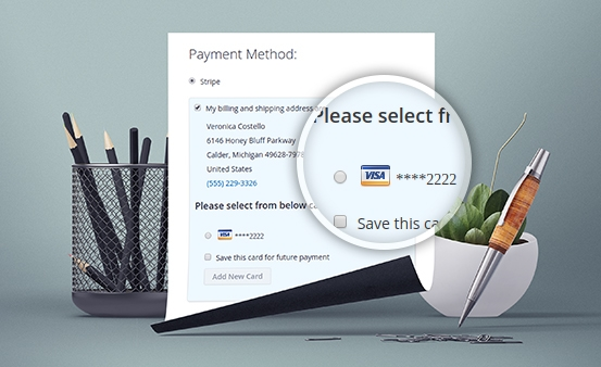 magento 2 stripe payment with Multiple Credit Card Payment