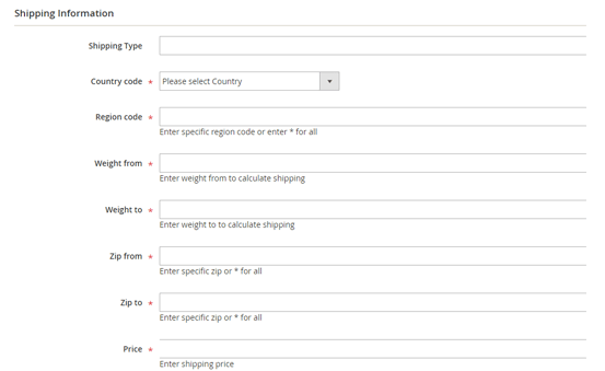 create multiple table rate shipping in magento-2