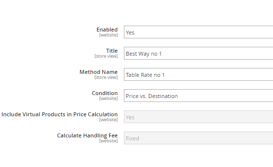 enable magento 2 multiple table rate shipping extension