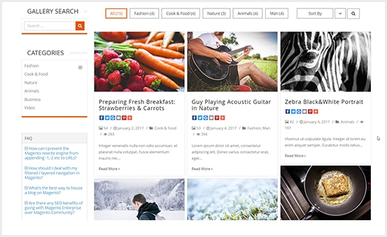 Magento 2 Image Gallery Extension - Masonry Gallery Showcase