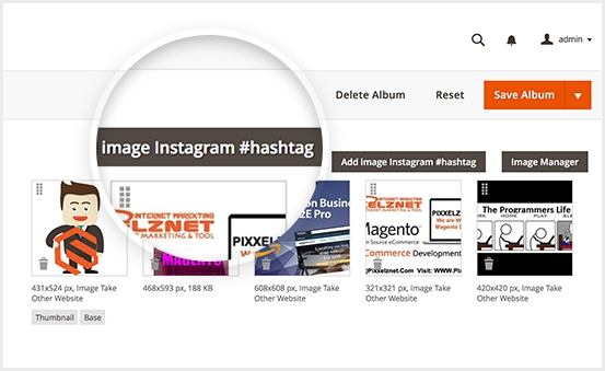 Magento 2 Photo Gallery PRO - Insert Instagram Hastash