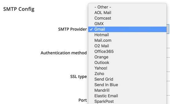 Use Your Own SMTP Server Or Use A Popular Service