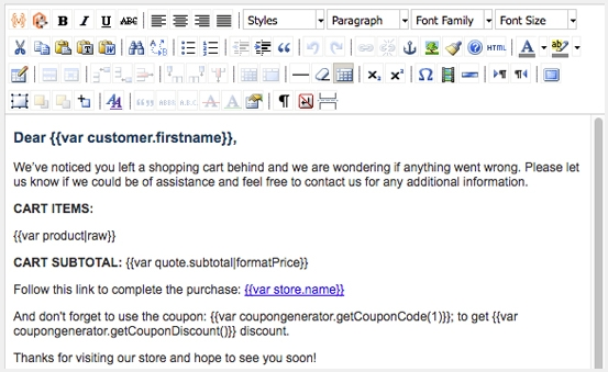 Increase the number of repeated purchases with custom email templates
