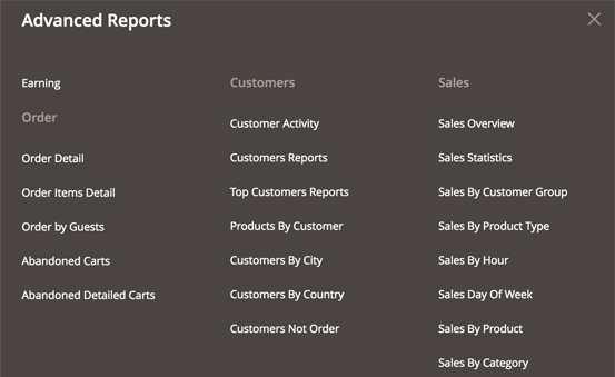 28 readymade reports to explore sales over time