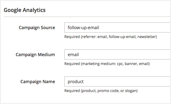 magento 2 follow up email use google analytics