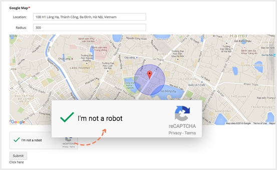 Recaptcha Security, Spam Protection