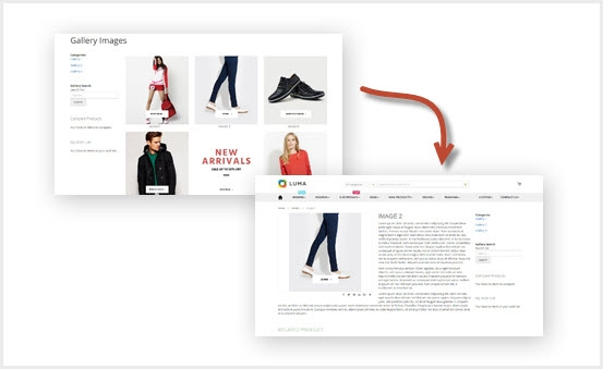 Magento 2 Image Gallery Extension - Link images to related product pages