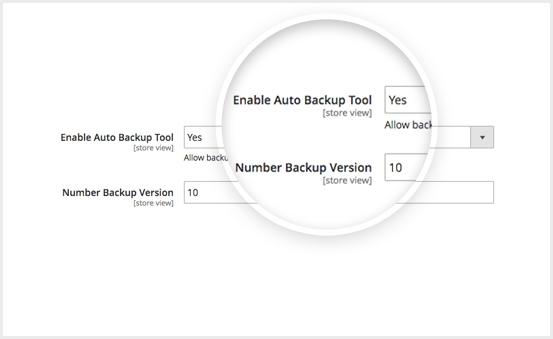 Enable backup tool