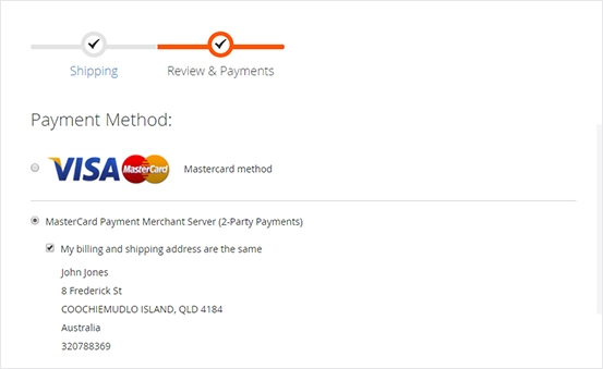Merchant Service API for 2-party payments