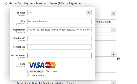 Fully support Mastercard payment gateway services