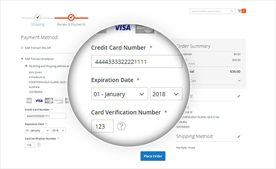 Flexible save card for future payment Actions