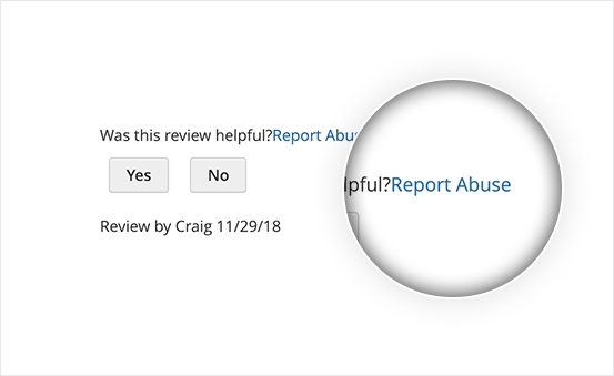 Magento 2 Product Reviews Extension - Report Abuse Displayed