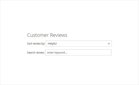 Magento 2 Product Reviews Extension - Smartly Filtered Reviews by Star Ratings, Helpfulness and Keywords