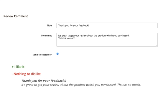 Magento 2 Product Reviews Extension - Friendly Reply From Admin