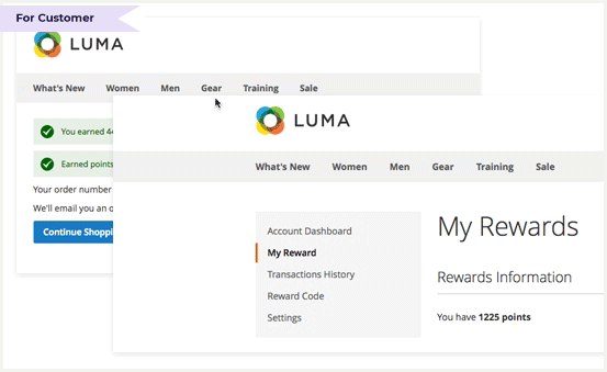 Earn points right after placing orders at your store
