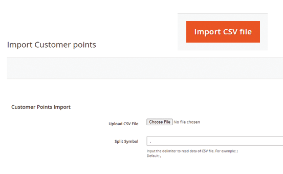 Magento 2 reward points - import customer points via csv file