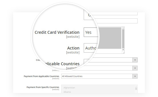 Powerful Credit Card Verification (CCV)