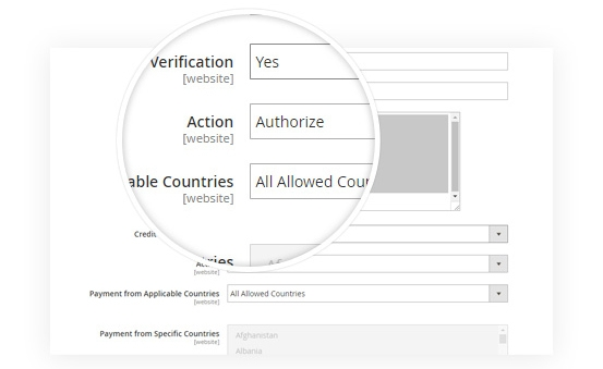 Supports authorize & capture & authorize only payment actions