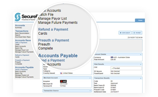 Create Online Invoice & Online Refund through SecurePay Payment Gateway