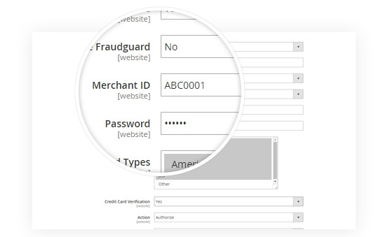Merchant Password Encryption in Configuration Settings