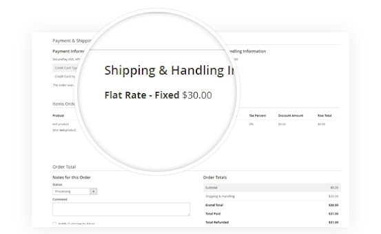 Manage Payment &Shipping at backend