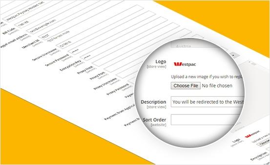 Easily configure Payment information (Logo & description)