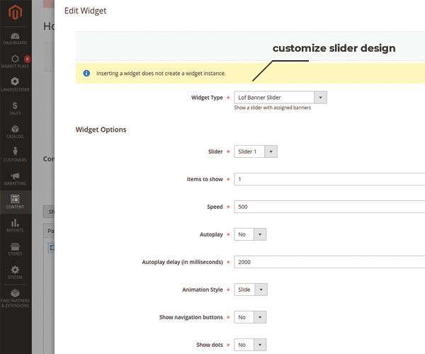 magento 2 banner slider extension customize design