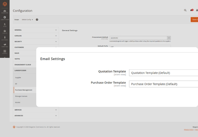 Notify suppliers via emails about quotation and order