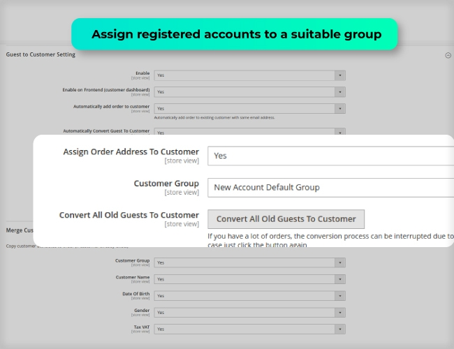 Assign new customer into a suitable group