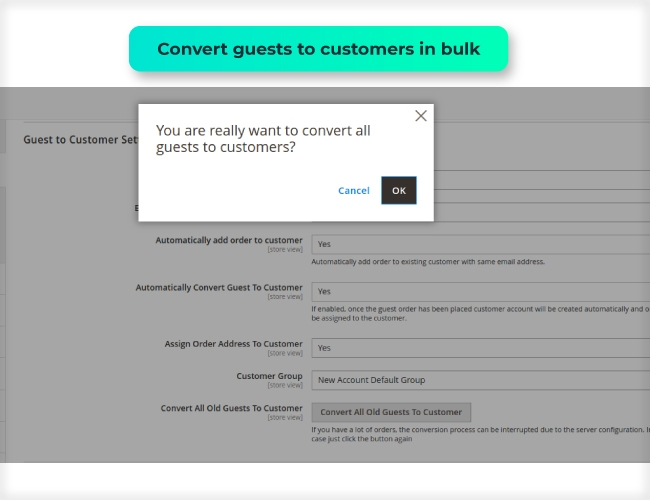 Magento 2 Guest to Customer convert all old guest to customer in bulk