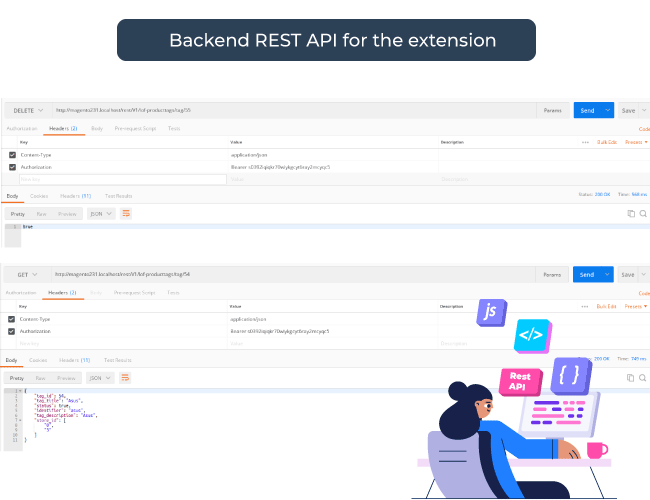 REST API Backend supports
