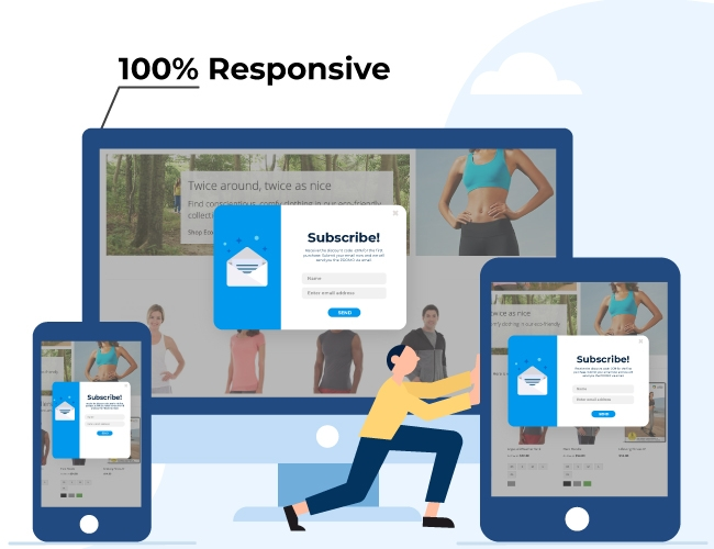 Responsive on all devices: desktops, mobiles, tablets
