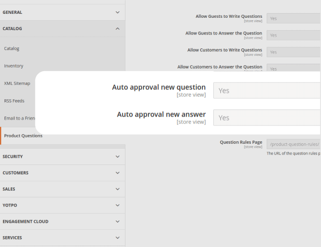 Auto approval Question and Answer