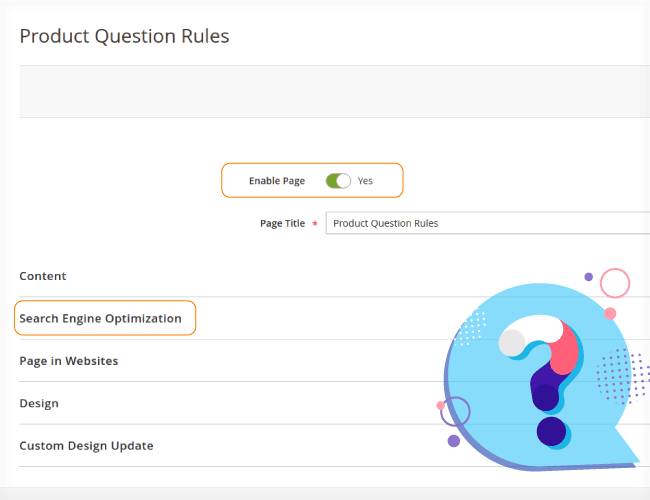 Magento 2 Product Question Rules