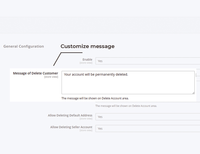 magento 2 gdpr customize message