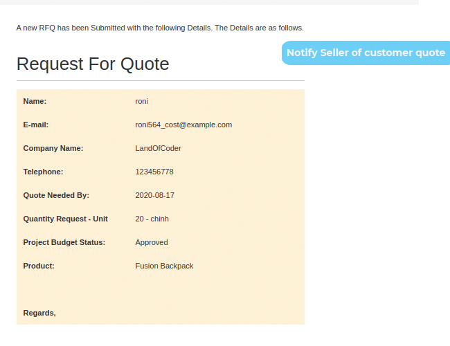 magento 2 marketplace quote system notify sellers of quotes