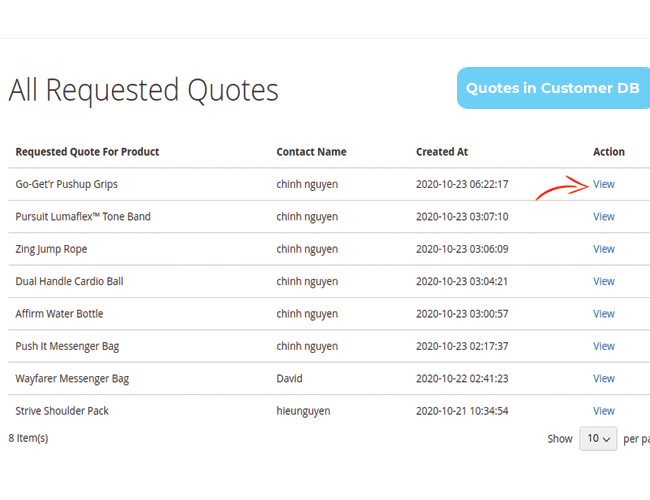 magento 2 request for quote - customer manage quotes