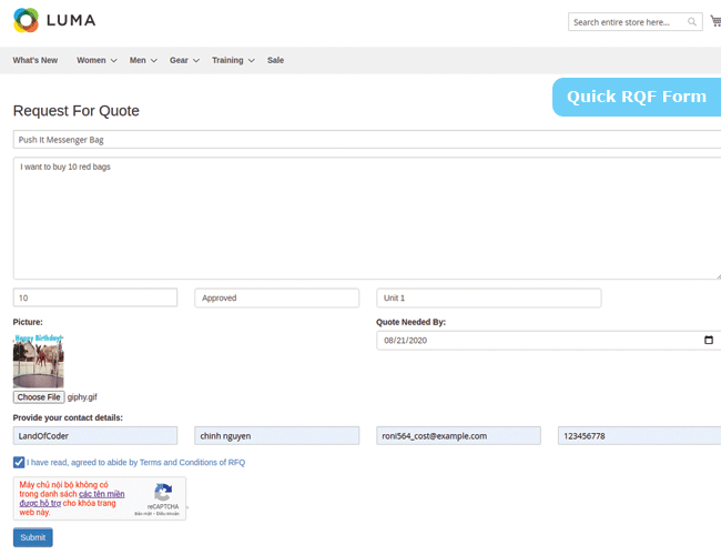 magento 2 marketplace quote system quick rfq form
