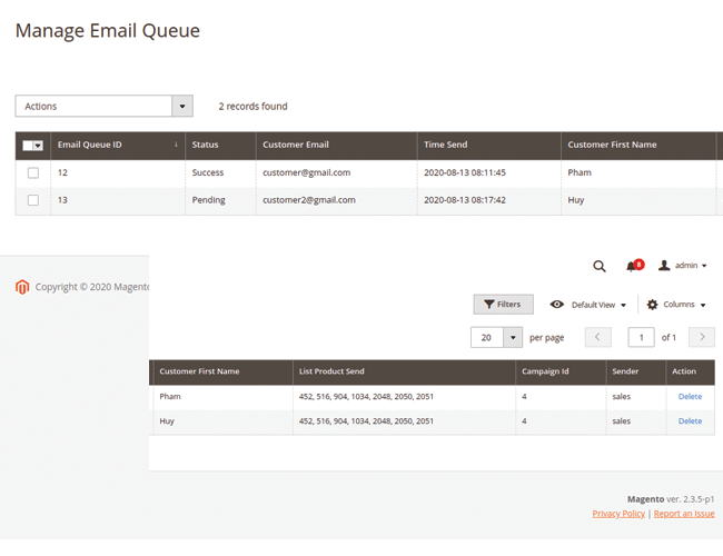 magento 2 post purchase email manage emai queue