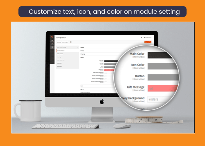 Magento 2 One Step checkout Customize text, icon, and color