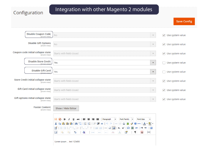 Magento 2 one step checkout Ease To Disable Redundant Fields