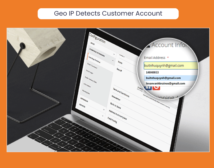 Magento 2 One Step Checkout Automatically Geo IP Detecting Customer Account