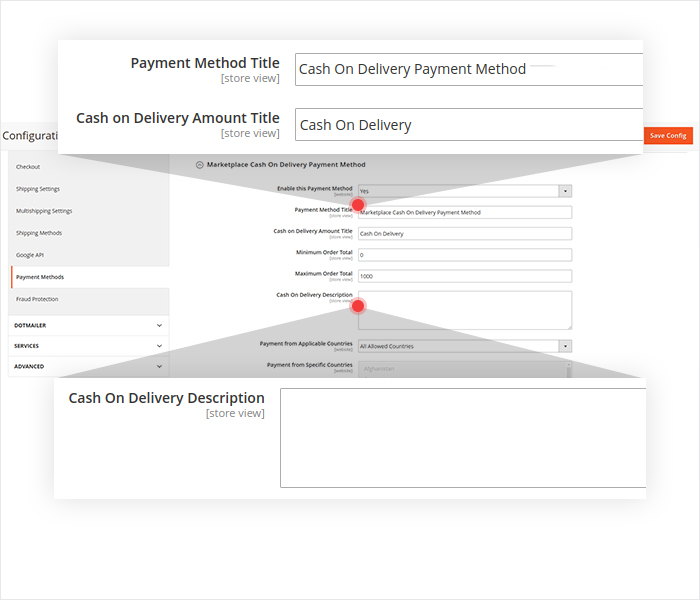 magento 2 cash on delivery show cod title and description on frontend