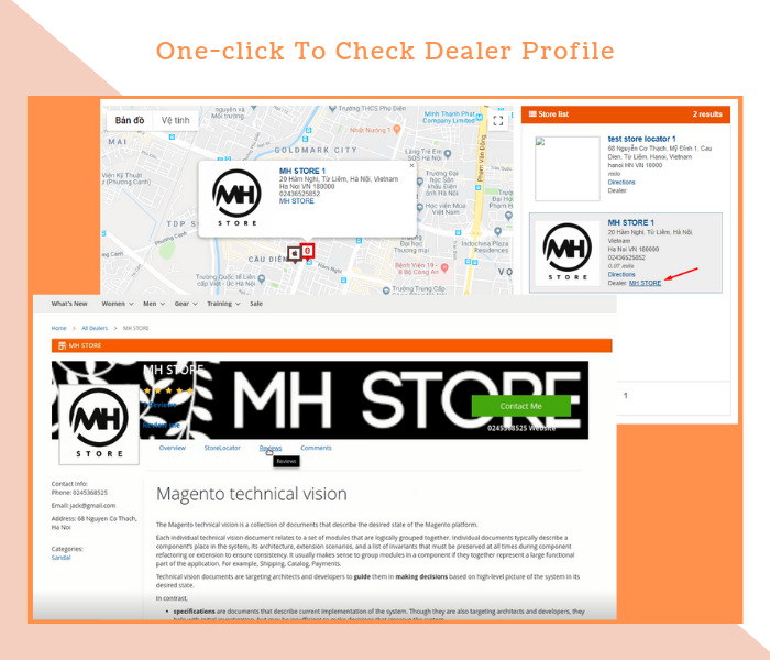 Magento 2 Dealer Extension One Click To Check Dealer Profile