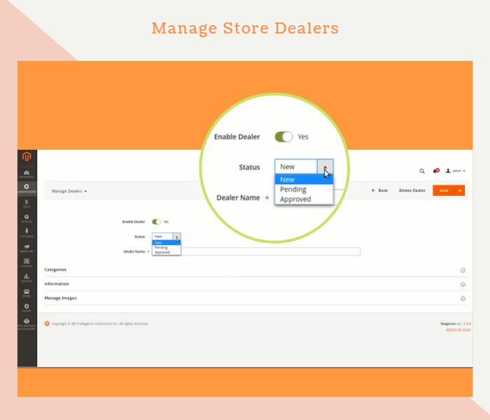 Magento 2 dealer extension lets admin manage dealers easily