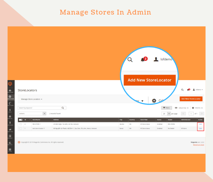 Magento 2 Dealer Extension Allows Admin To Manage Stores