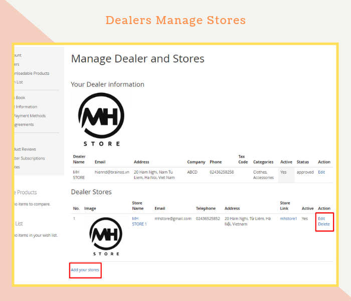 Magento 2 Dealer Extension Allows Dealers To Manage Stores