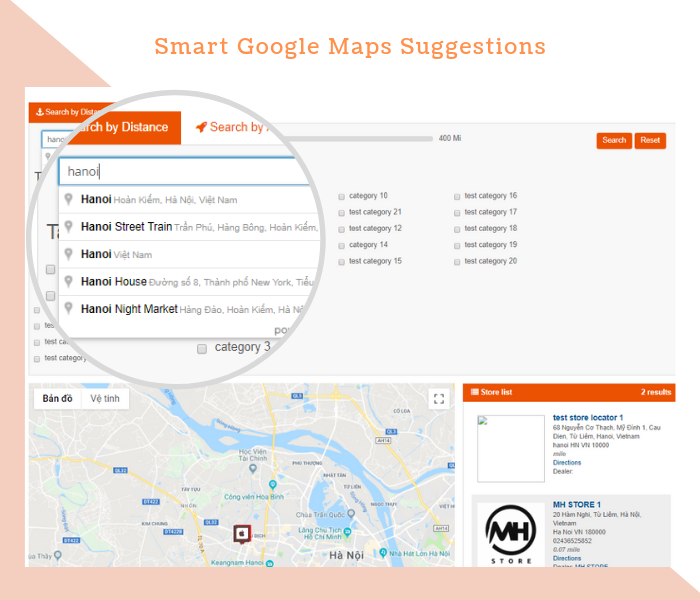 Magento 2 Dealer Extension Google Maps Suggestions