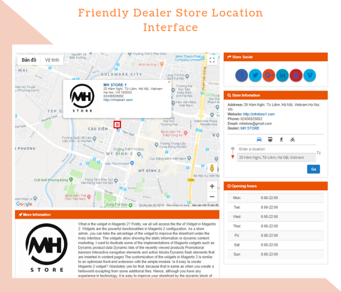 Magento 2 Dealer Extension Intuitive dealer store location interface