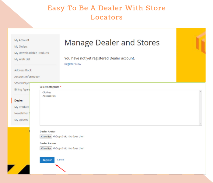 Magento 2 dealer extension easily to become a dealer